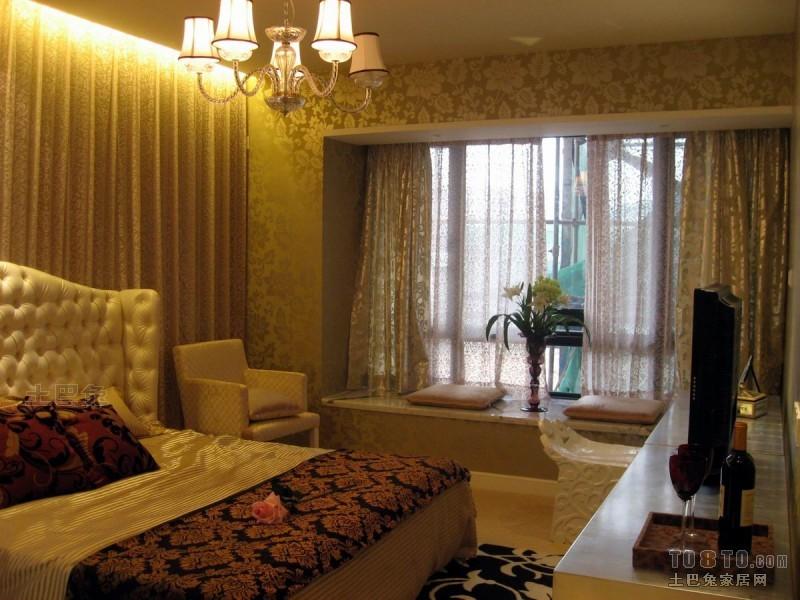 典雅71平混搭三居卧室案例图卧室潮流混搭卧室设计图片赏析