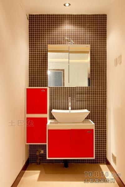 精美99平米三居卫生间混搭实景图片欣赏卫生间潮流混搭卫生间设计图片赏析