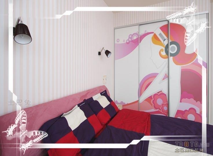 精美52平混搭二居卧室装饰图卧室潮流混搭卧室设计图片赏析