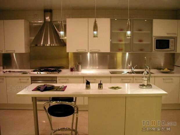 优雅121平混搭四居厨房装饰美图餐厅潮流混搭厨房设计图片赏析