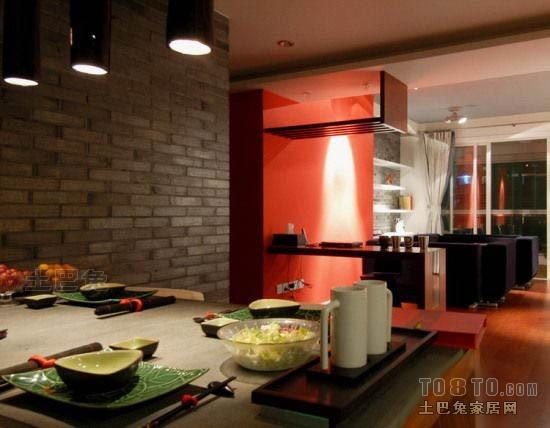精美面积70平混搭二居餐厅装修设计效果图厨房潮流混搭餐厅设计图片赏析
