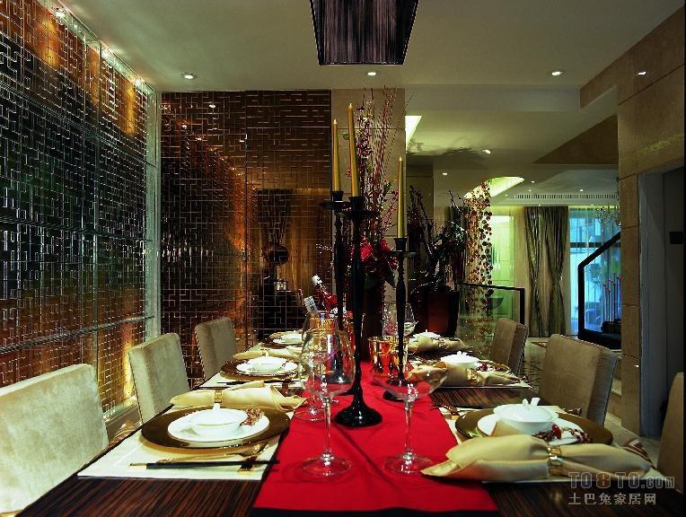现代风格餐厅厨房潮流混搭餐厅设计图片赏析