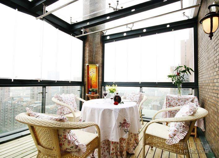 热门144平米混搭复式阳台装修欣赏图片大全潮流混搭设计图片赏析