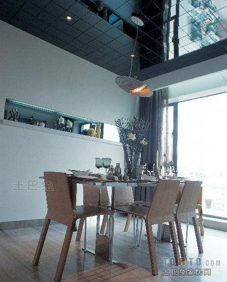 优雅96平混搭四居餐厅实景图片潮流混搭设计图片赏析