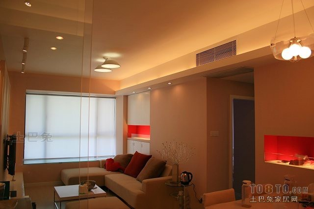 精选81平米二居客厅混搭装修实景图片客厅潮流混搭客厅设计图片赏析