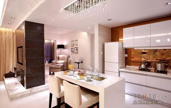 热门83平米二居厨房混搭效果图片大全餐厅潮流混搭厨房设计图片赏析