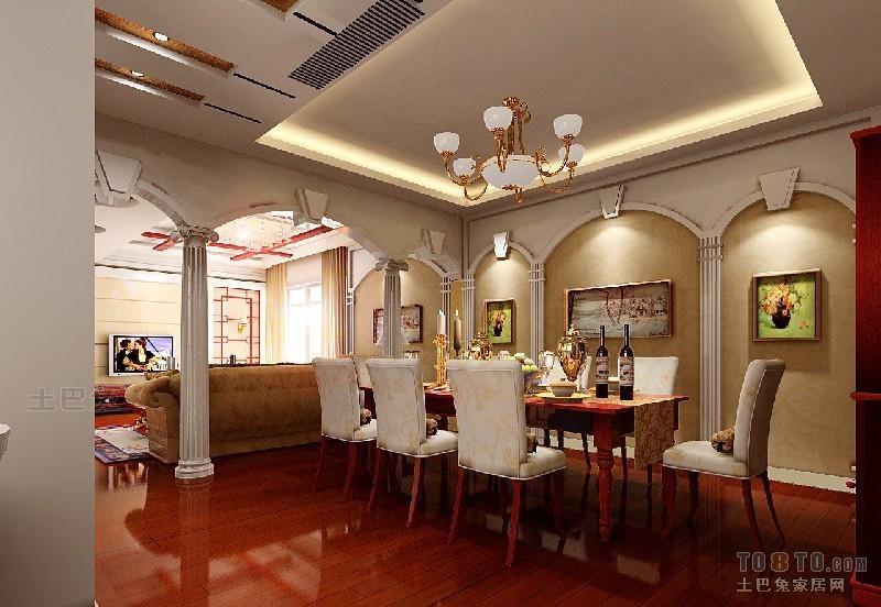 热门98平方三居餐厅混搭装修设计效果图潮流混搭设计图片赏析