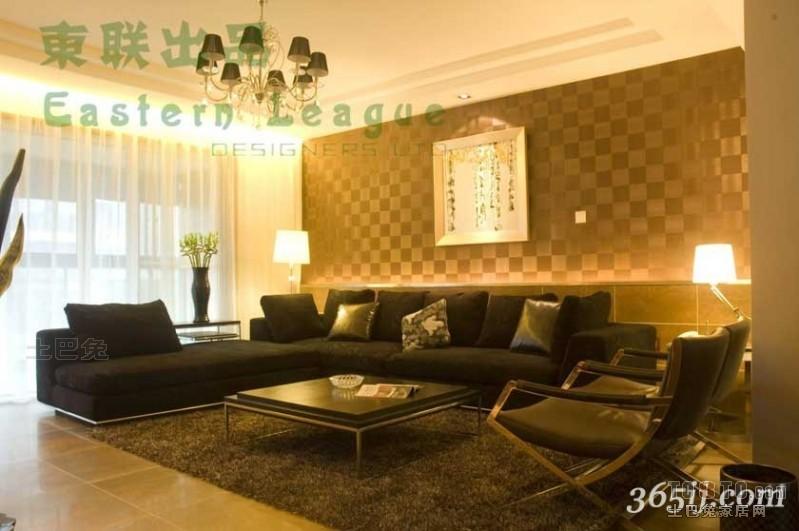 混搭3室装饰图片97平客厅潮流混搭客厅设计图片赏析