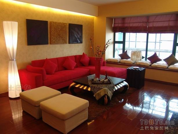 2018精选面积95平混搭三居客厅装饰图片大全客厅潮流混搭客厅设计图片赏析