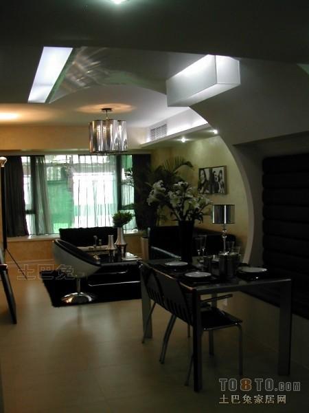 温馨87平混搭二居餐厅实拍图厨房潮流混搭餐厅设计图片赏析