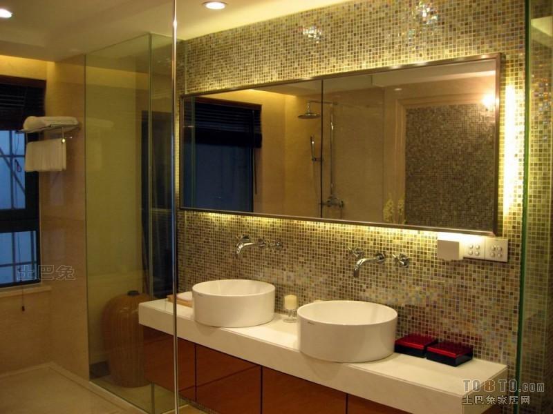 精美124平米混搭复式卫生间装饰图片卫生间潮流混搭卫生间设计图片赏析