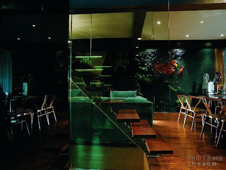质朴62平混搭复式餐厅案例图厨房潮流混搭餐厅设计图片赏析