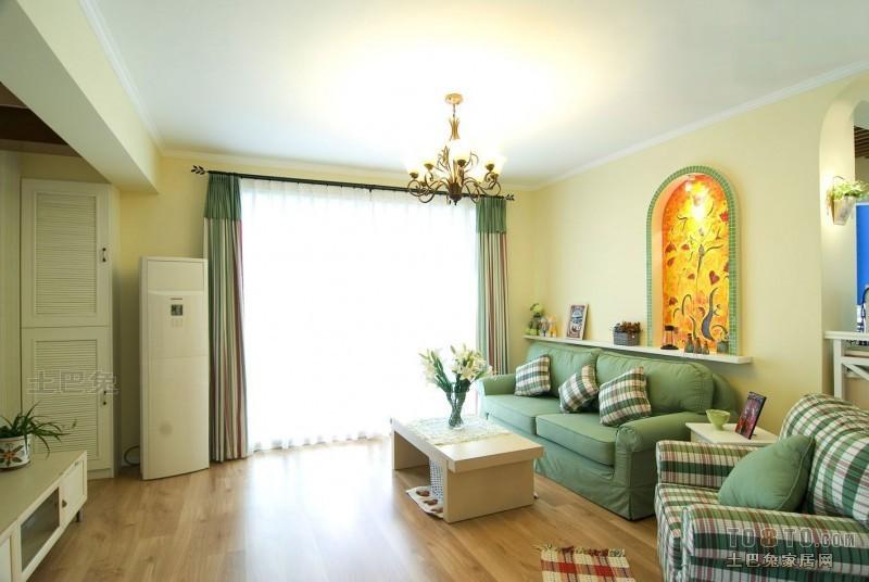 平方三居客厅混搭装修效果图片大全设计图片赏析