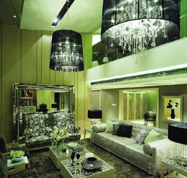 悠雅61平混搭复式客厅装饰图客厅潮流混搭客厅设计图片赏析