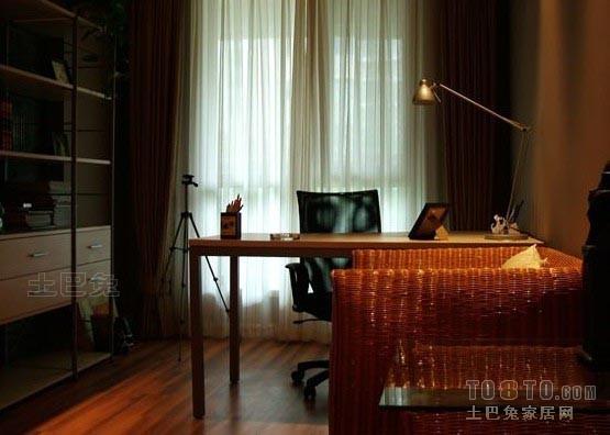 平混搭二居书房实拍图功能区潮流混搭功能区设计图片赏析
