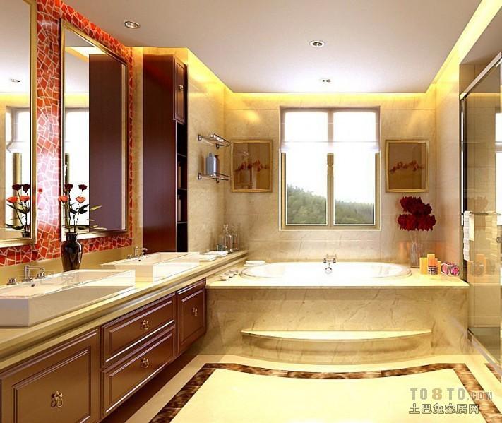 欧式现代卫生间装修效果图大全2012图片卫生间潮流混搭卫生间设计图片赏析