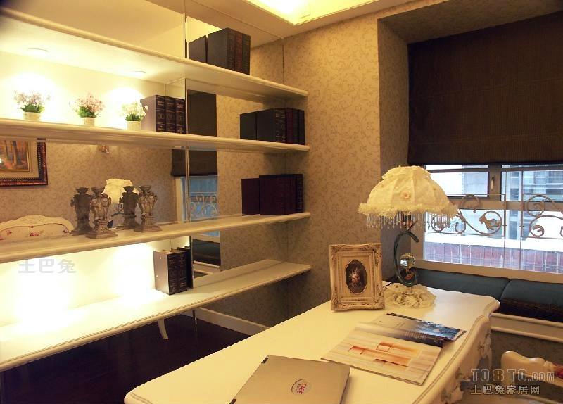 精美92平米三居书房混搭装饰图片大全设计图片赏析