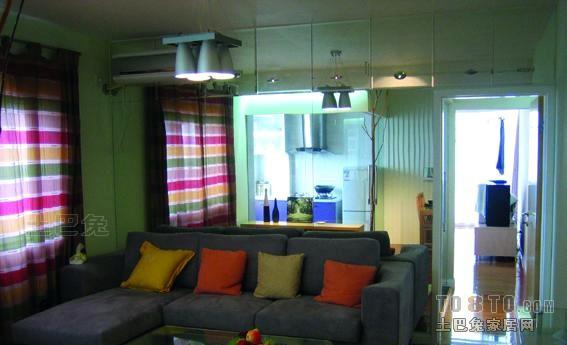 轻奢22平混搭小户型客厅装饰图客厅潮流混搭客厅设计图片赏析
