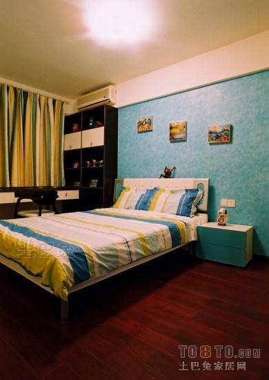 精美面积70平混搭二居儿童房装修实景图片大全卧室潮流混搭卧室设计图片赏析