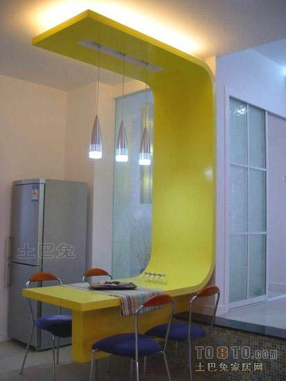 华丽79平混搭二居餐厅布置图厨房潮流混搭餐厅设计图片赏析