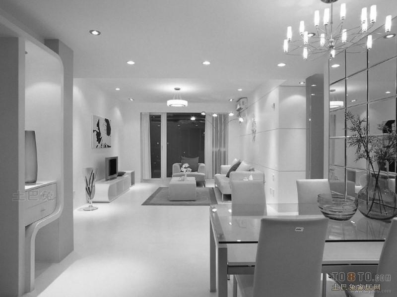 精选面积103平混搭三居餐厅效果图厨房潮流混搭餐厅设计图片赏析