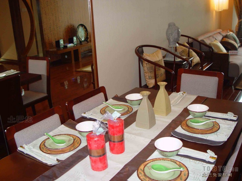 悠雅122平混搭三居餐厅装修设计图厨房潮流混搭餐厅设计图片赏析