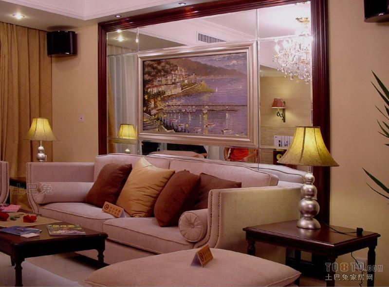 热门混搭3室欣赏图片大全107平客厅潮流混搭客厅设计图片赏析