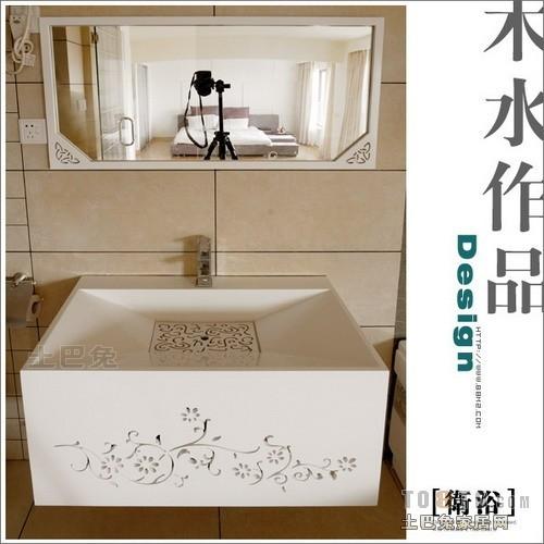 轻奢71平混搭复式卫生间效果图欣赏卫生间潮流混搭卫生间设计图片赏析