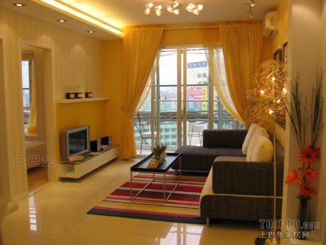 现代简约金色调客厅装修效果图大全客厅潮流混搭客厅设计图片赏析