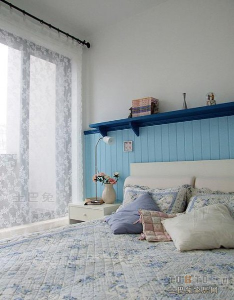 美式风格卧室装修效果图 单张展示 新浦江城装修效果图 家丰作品高清图片