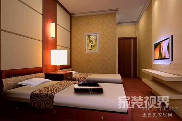 明亮124平混搭四居卧室设计案例卧室潮流混搭卧室设计图片赏析
