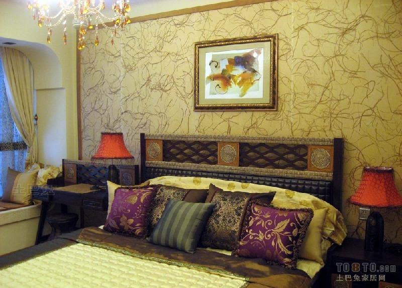精美106平方三居卧室混搭装修设计效果图片欣赏卧室潮流混搭卧室设计图片赏析