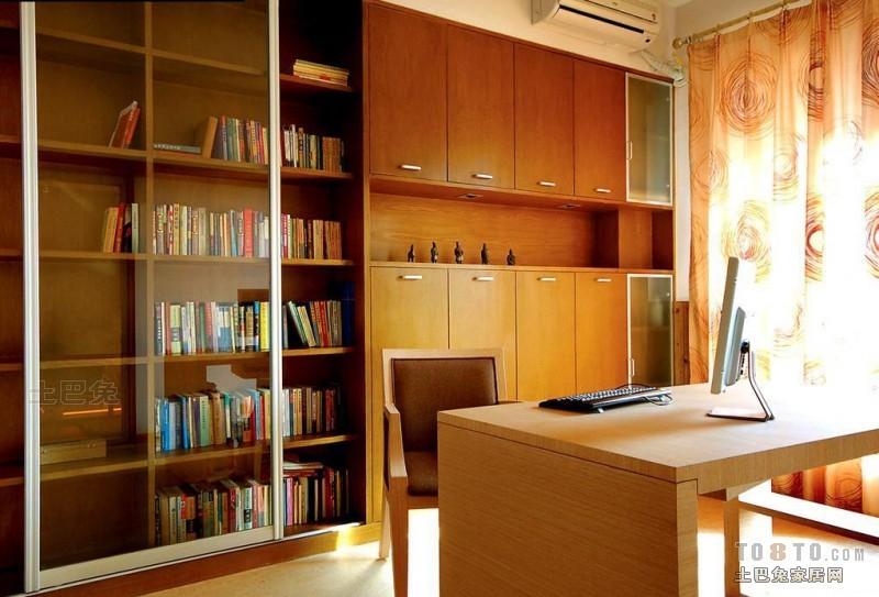 悠雅106平混搭三居书房设计案例功能区潮流混搭功能区设计图片赏析