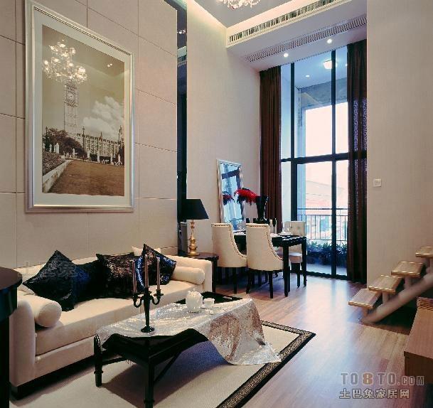 2018精选131平米混搭复式客厅装修图片大全客厅潮流混搭客厅设计图片赏析