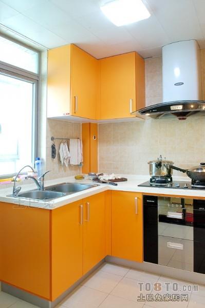 平米混搭复式厨房装饰图餐厅潮流混搭厨房设计图片赏析
