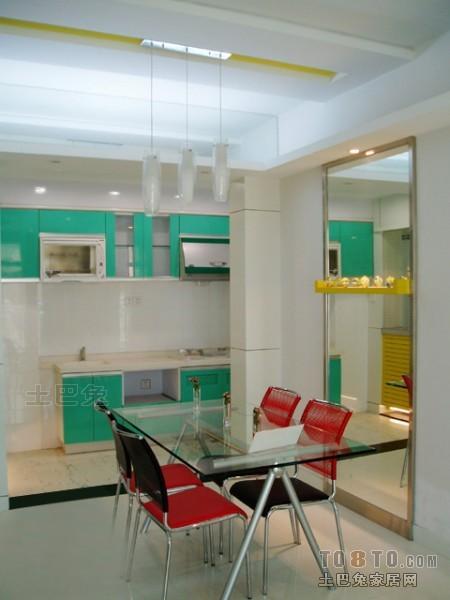 热门大小105平混搭三居餐厅实景图片欣赏厨房潮流混搭餐厅设计图片赏析