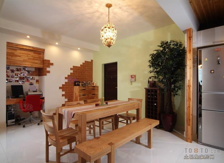 106平方三居餐厅混搭实景图片厨房潮流混搭餐厅设计图片赏析