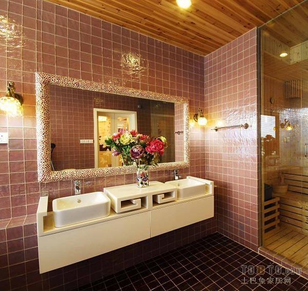 热门混搭复式卫生间设计效果图卫生间潮流混搭卫生间设计图片赏析