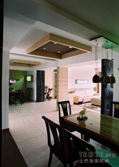 精美大小101平混搭三居餐厅装修设计效果图潮流混搭设计图片赏析