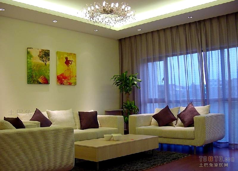 热门混搭3室客厅装饰图片欣赏102平客厅潮流混搭客厅设计图片赏析