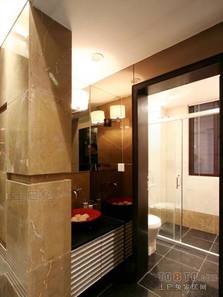混搭风格卫浴卫生间潮流混搭卫生间设计图片赏析
