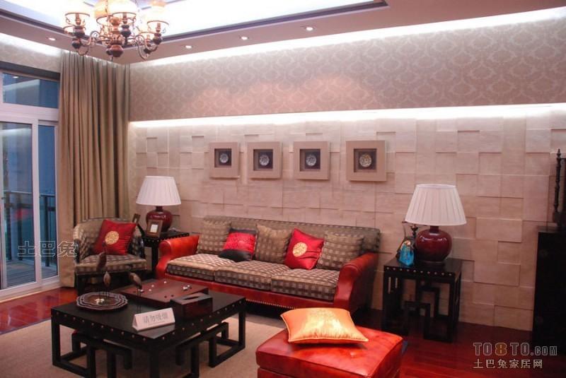 2018大小144平混搭四居客厅装饰图片客厅潮流混搭客厅设计图片赏析