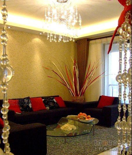 混搭3室客厅效果图片欣赏100.42平客厅潮流混搭客厅设计图片赏析