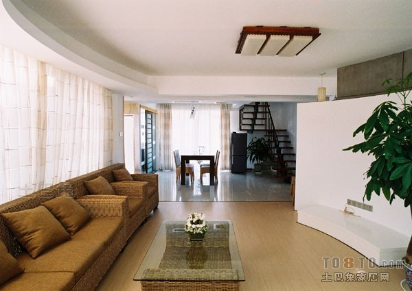 精选混搭复式客厅装修实景图片大全客厅潮流混搭客厅设计图片赏析