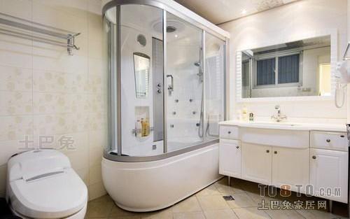 欧式简约清爽现代卫生间装修效果图卫生间潮流混搭卫生间设计图片赏析