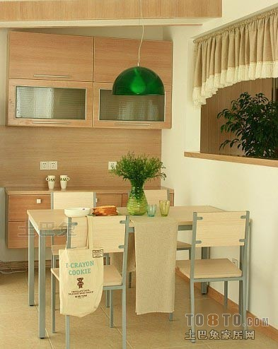 精美面积81平混搭二居餐厅效果图片厨房潮流混搭餐厅设计图片赏析