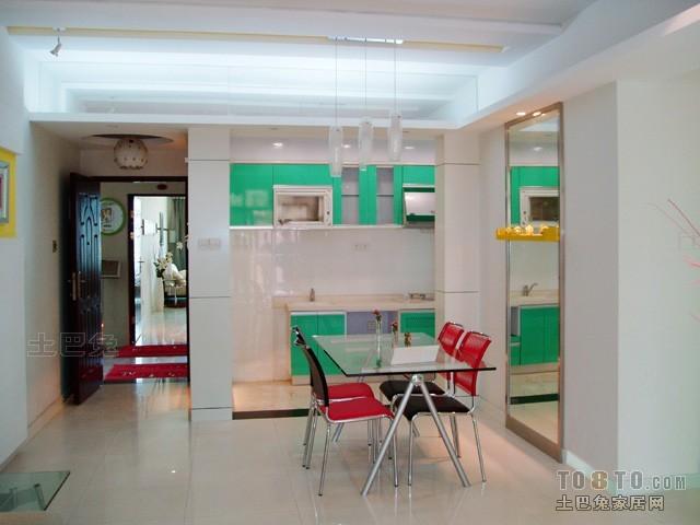 热门面积95平混搭三居餐厅装修设计效果图片欣赏厨房潮流混搭餐厅设计图片赏析