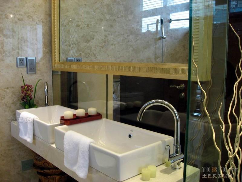 中式现代卫浴卫生间潮流混搭卫生间设计图片赏析