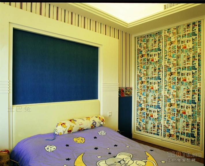 欧式儿童衣柜设计卧室潮流混搭卧室设计图片赏析