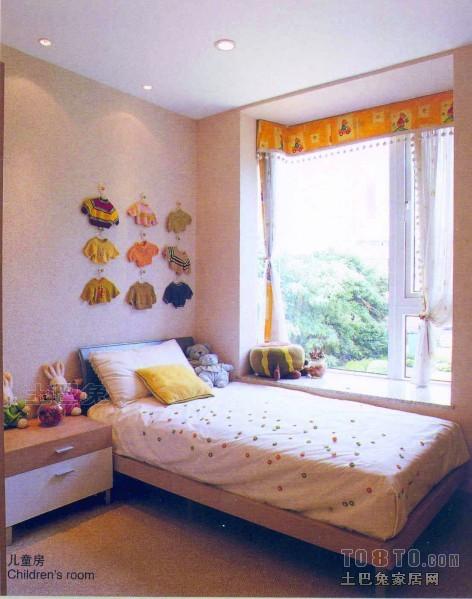 明亮58平混搭复式儿童房装修设计图卧室潮流混搭卧室设计图片赏析